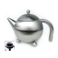 51 Oz Footed Teapot with Infuser in Satin
