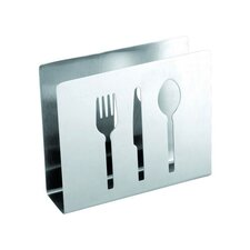 Napkin Holder with Flatware Cut-Out