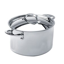 Elite 3-qt. Stainless Steel Round Dutch Oven