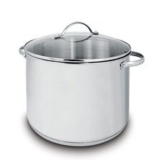 Deluxe 20.07-qt Covered Stock Pot