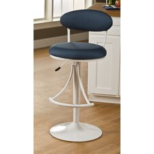 Venus Adjustable Swivel Barstool with Fabric Seat