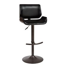"Radcliff 25"" Adjustable Swivel Bar Stool with Cushion"