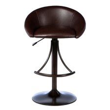 "Webster 24"" Adjustable Swivel Bar Stool with Cushion"