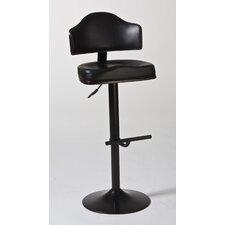 Warner Adjustable Height Swivel Bar Stool with Cushion