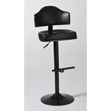 Warner Adjustable Swivel Bar Stool with Cushion