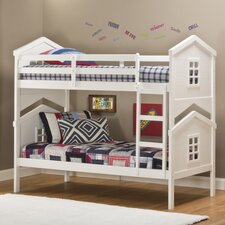 House Twin Over Twin Standard Bunk Bed