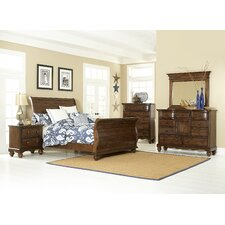 Pine Island Sleigh 5 Piece Bedroom Collection