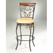"Knightsbridge 26"" Swivel Bar Stool with Cushion"