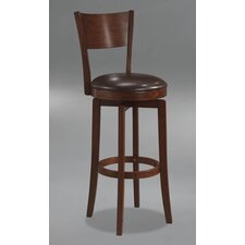 "Archer 24.5"" Swivel Counter Stool in Brown"