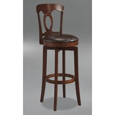 Corsica Swivel Bar Height Barstool with Vinyl Seat in Brown