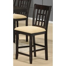 Tabacon Non Swivel Counter Height Barstool in Cappuccino (Set of 2)