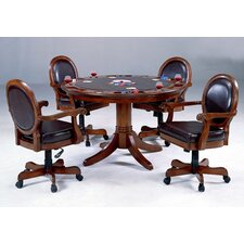 Warrington 5 Piece Poker Table Set