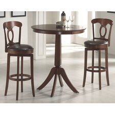 Plainview Bar Height Bistro Table with Corsica Stools in Black