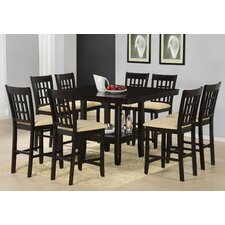 Tabacon Counter Height 9 Piece Dining Table Set in Cappuccino