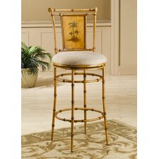 "West Palm 30"" Tropical Swivel Bar Stool"