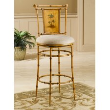 "West Palm 26"" Tropical Swivel Counter Stool"