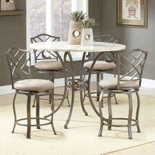 Brookside Counter Height Pub Set with Hanover Swivel Stools