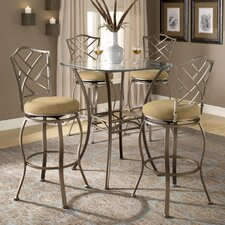 Brookside Bar Height Glass Bistro Table with Hanover Stools