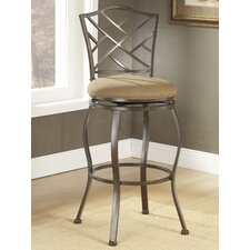 "Hanover 24"" Swivel Bar Stool with Cushion"