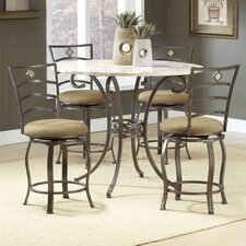 Brookside Counter Height Pub Set with Marin Swivel Stools