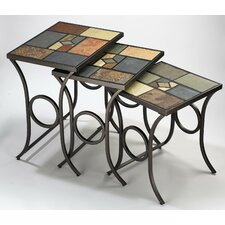 <strong>Hillsdale Furniture</strong> Pompei Slate 3 Piece Nesting Tables