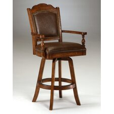 Nassau Swivel Leather Game Bar Stool