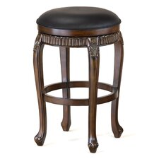 "Fleur De Lis 24"" Swivel Bar Stool with Cushion"