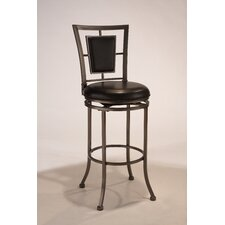 "<strong>Hillsdale Furniture</strong> Auckland 24"" Swivel Bar Stool with Cushion"
