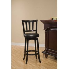 Presque Isle Swivel Counter Stool in Black