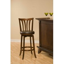 Savana Swivel Bar Stool in Cherry