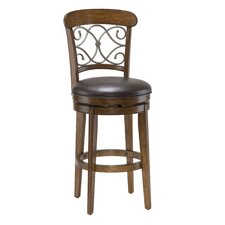 Bergamo Swivel Bar Stool in Brown Cherry