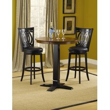 Dynamic Designs Gathering Table in Black Finish with Van Draus Swivel Bar Stools