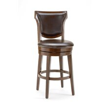 <strong>Hillsdale Furniture</strong> Country Heights Swivel Counter Stool in Distressed Rustic Cherry