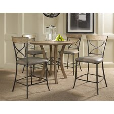 Charleston 5 Piece Round Counter Height Dining Set