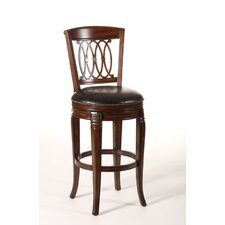 <strong>Hillsdale Furniture</strong> Montello Wood Swivel Stool in Dark Tobacco