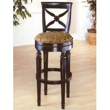 "<strong>Hillsdale Furniture</strong> Normandy 28"" Swivel Bar Stool with Cushion"