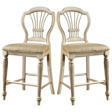 "Wilshire White 23.25"" Counter Stool (Set of 2)"