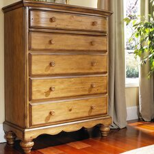 Hamptons 5 Drawer Chest