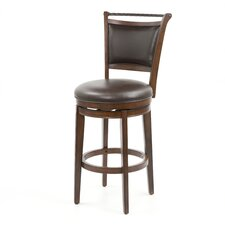 Calais Swivel Bar Stool in Brown Cherry