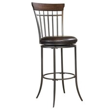 "Cameron 30"" Swivel Bar Stool with Cushion"