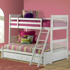 Lauren Twin Over Full Bunk Bed with Trundle Storage
