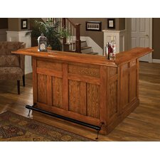 <strong>Hillsdale Furniture</strong> Large Oak Wrap Around Home Bar