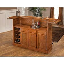 <strong>Hillsdale Furniture</strong> Classic Oak Large Bar