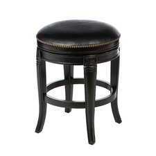 Montello Backless Wood Swivel Stool in Black Honey