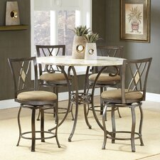 Brookside Counter Height Pub Set with Diamond Back Counter Stools
