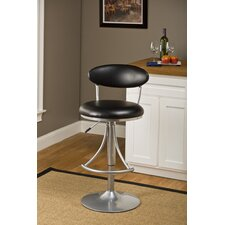 Venus Adjustable Swivel Barstool with Vinyl Seat