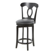 "Corsica 24.5"" Swivel Counter Stool with Vinyl Seat in Black"