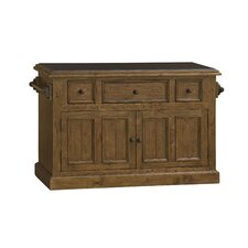 Tuscan Retreat Kitchen Island with Granite Top