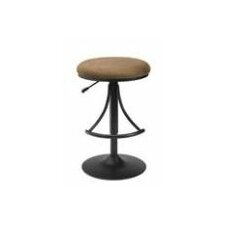 "Venus 24"" Adjustable Swivel Bar Stool with Cushion"