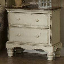 Wilshire 2 Drawer Nightstand